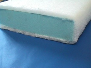 Lux foam wapped in Dacron fiberfill