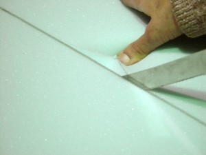 Serrated blades cut foam cleanly when you take your time