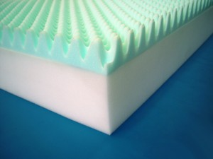 Eggcrate foam layers are ultra-cushioning