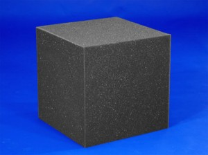 "12"" Fire Retardant Charcoal Foam Block"