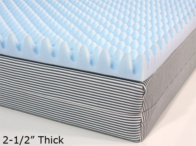Egg crate foam mattress pad Yellow Foam 212 Inch Eggcrate Mattress Topper The Foam Factory Custom Eggcrate Padding Pressure Relief And Supportive Comfort