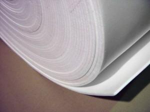 Polyethylene roll table padding