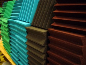 Colored Acoustical Wedge Foam