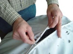 Filling a beanbag liner with shredded foam