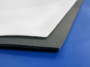 Thin foam sheets like this polyethylene roll can be cut with sharp scissors