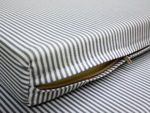 mattress cover grey striped